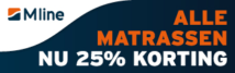 Alle matrassen nu 25% korting! - M line black friday