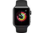APPLE Watch Series 3 38mm spacegrijs aluminium / zwart sportbandje - MediaMarkt black friday